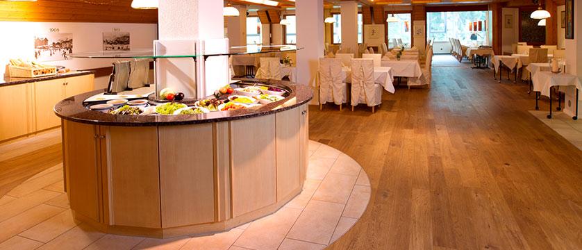 Hotel Silberhorn, Wengen, Bernese Oberland, Switzerland - dining room with buffet.jpg